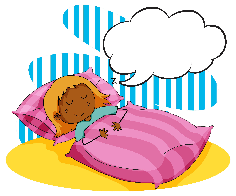 Mädchen schläft im Bett - Download Kostenlos Vector