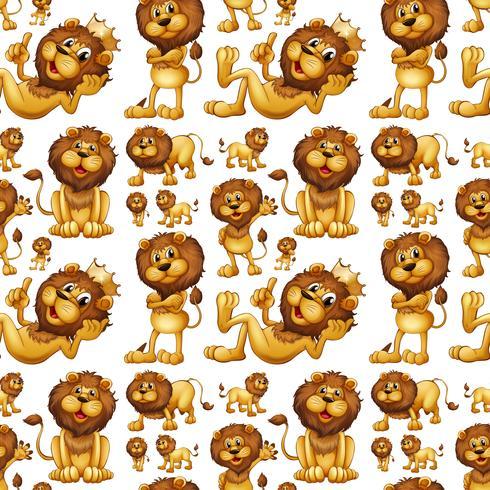 Naadloze wilde leeuw met verschillende berichten