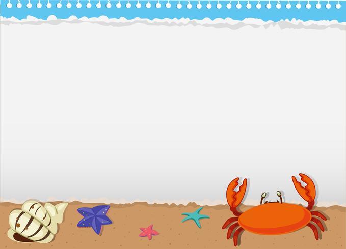 Diseño de borde con animales marinos. vector