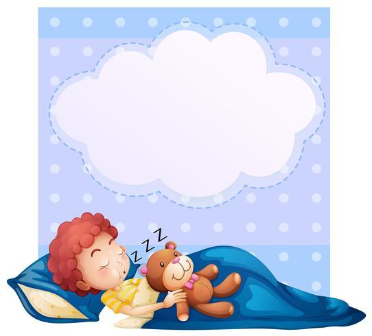 Banner met jongen slapen