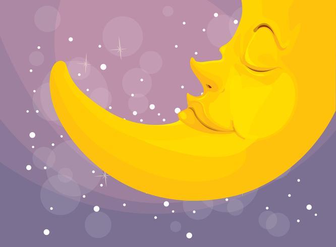 luna durmiente vector