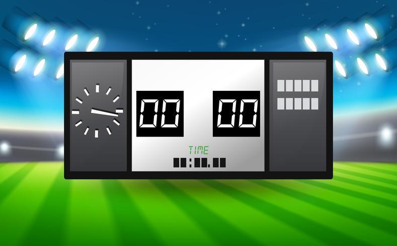 Tavola del punteggio nello stadio
