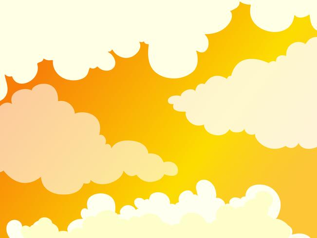 Bellissimo sfondo nuvoloso cielo dorato