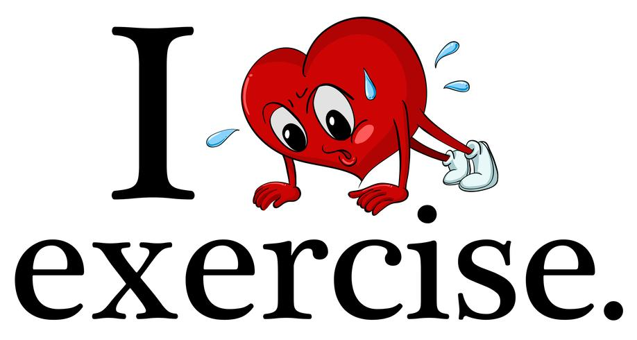 I love exercise vector