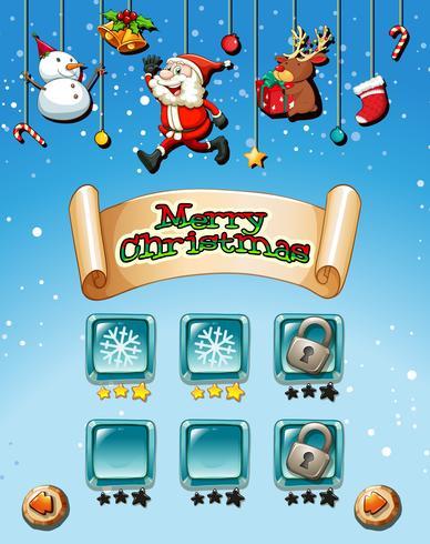 Feliz navidad en plantilla de juego