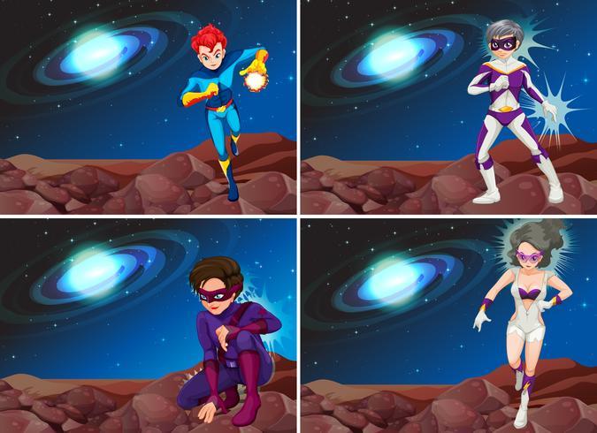 Superhelden im Raum