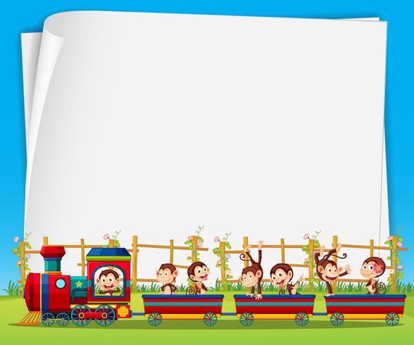 Monkey and train