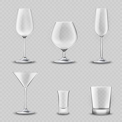 Glasögon Transparent Set vektor