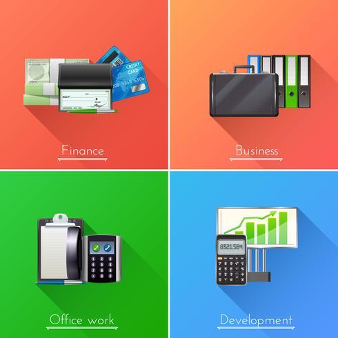 Business Design Concept Set vector