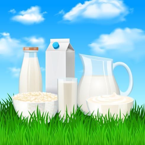 Milchprodukte Illustration