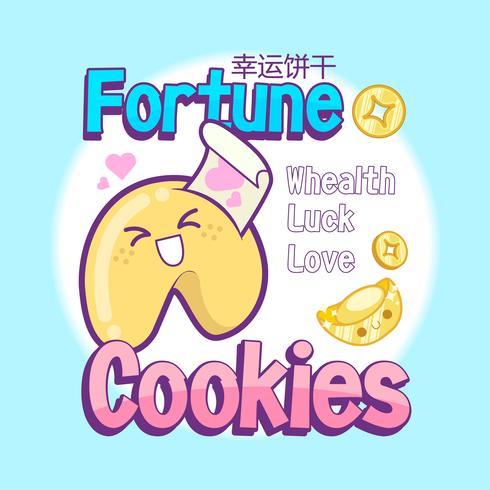 vecteur de biscuits de fortune mignon