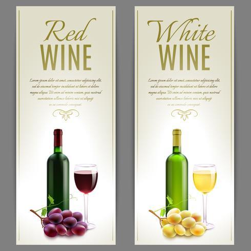 Set de Banners de Vino vector