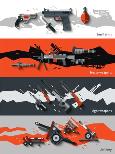 Weapon Banners Set vector