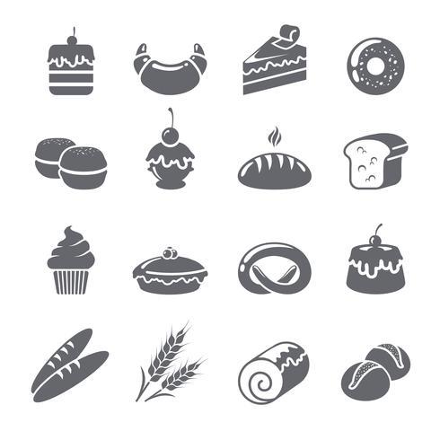 Baking Icons Black vector