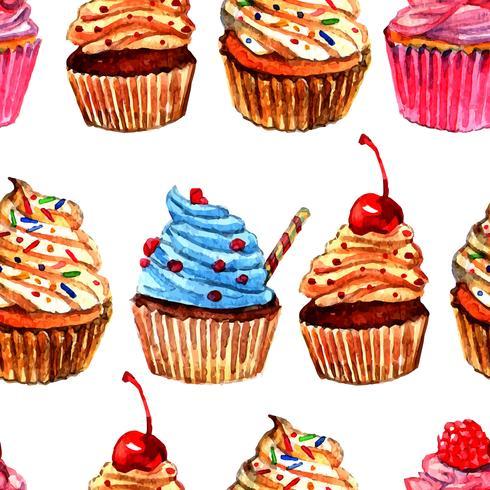 Nahtloses Musterdesign der kleinen Kuchen