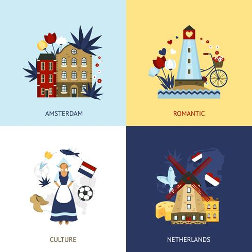 Netherlands Design Concept vector