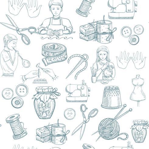 Met de hand gemaakt naadloos patroon