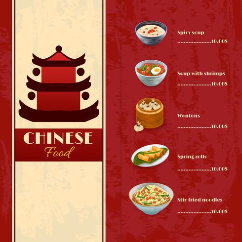 Asiatisk matmeny