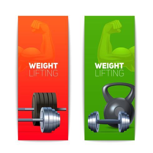 Sport Banners Vertikal vektor