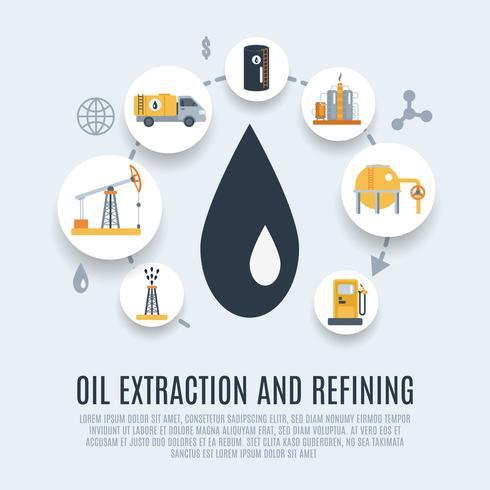 Icono de plano de la industria del petróleo