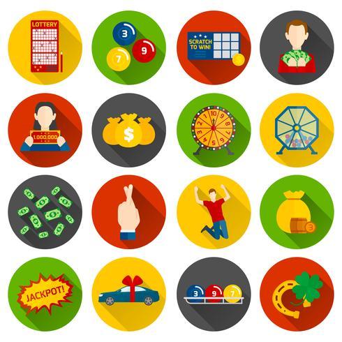 Loterie Icon Flat vecteur