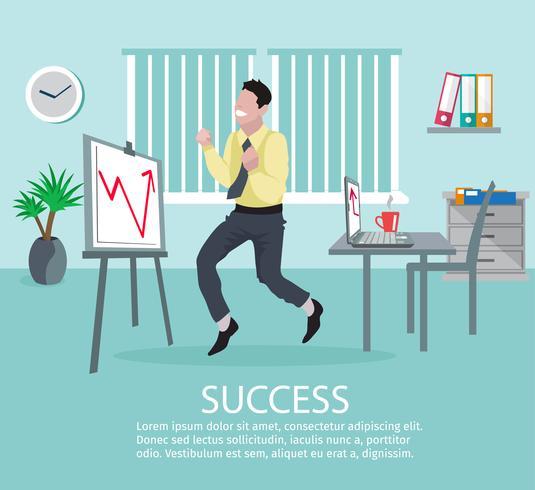Succesvolle bedrijfsidee-affiche