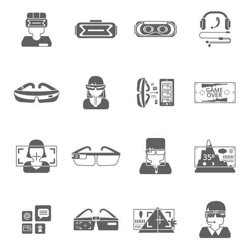 Lunettes virtuelles Icon Set