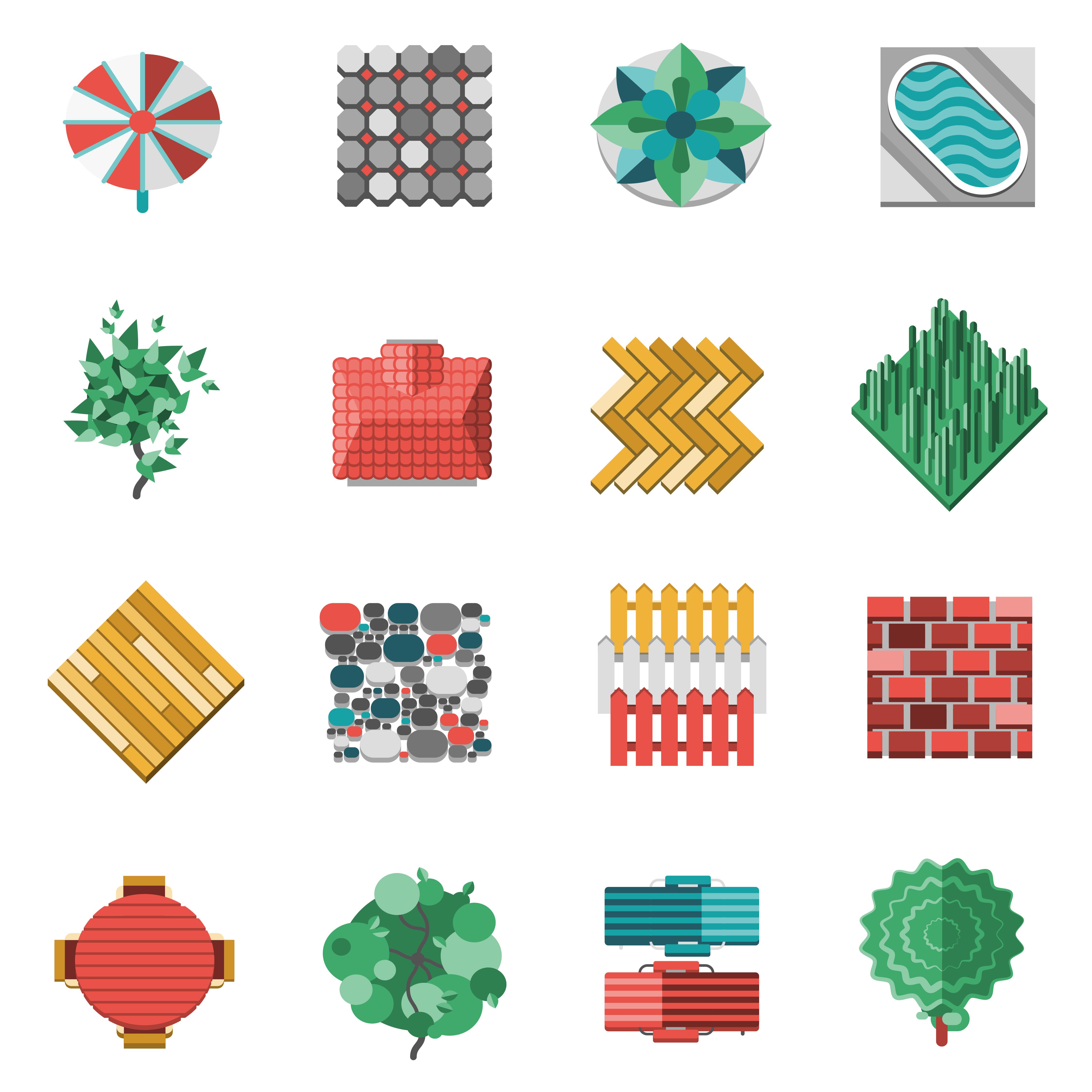 Landscape Design Elements - Download Free Vectors, Clipart ...