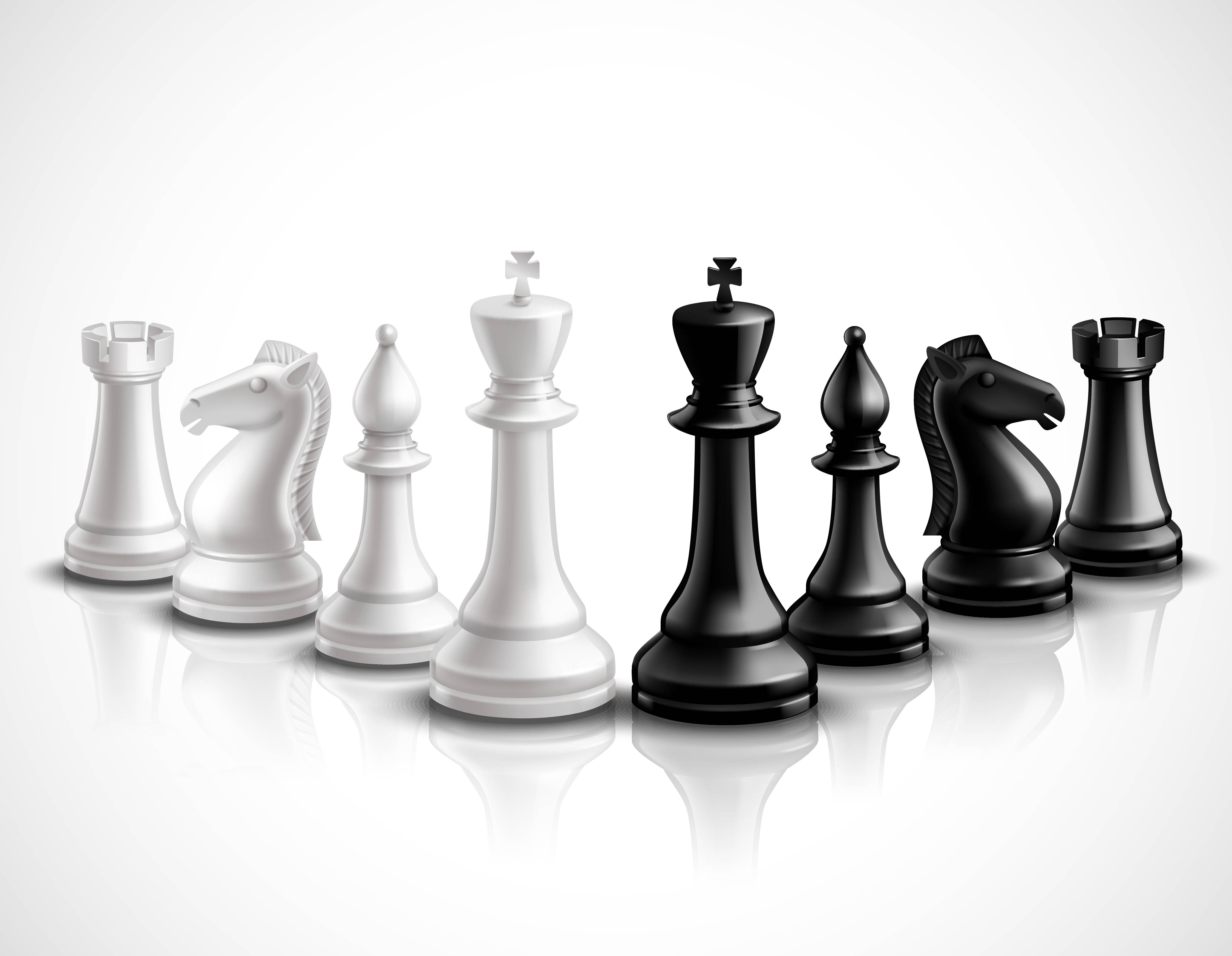 Chess Pieces Illustration - Download Free Vector Art ...