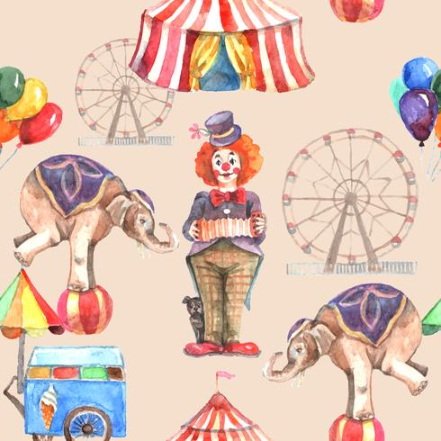 Modèle sans couture de cirque