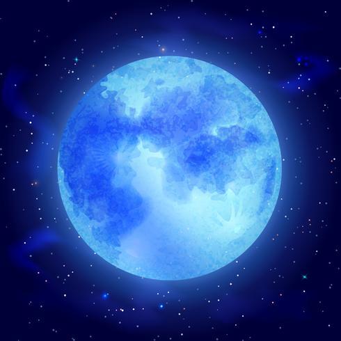Mond mit Sternen