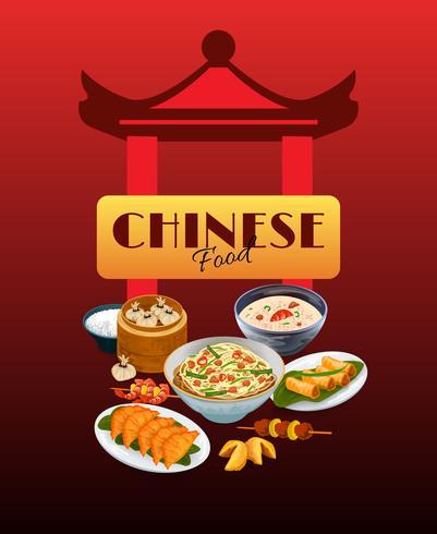 Cartel de comida asiática