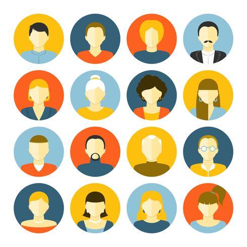 Conjunto de ícones de avatares