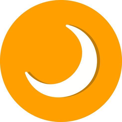 icona della mezzaluna vettoriale