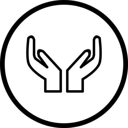 Icona di preghiera vettoriale