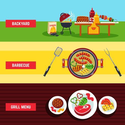 Set di banner per barbecue