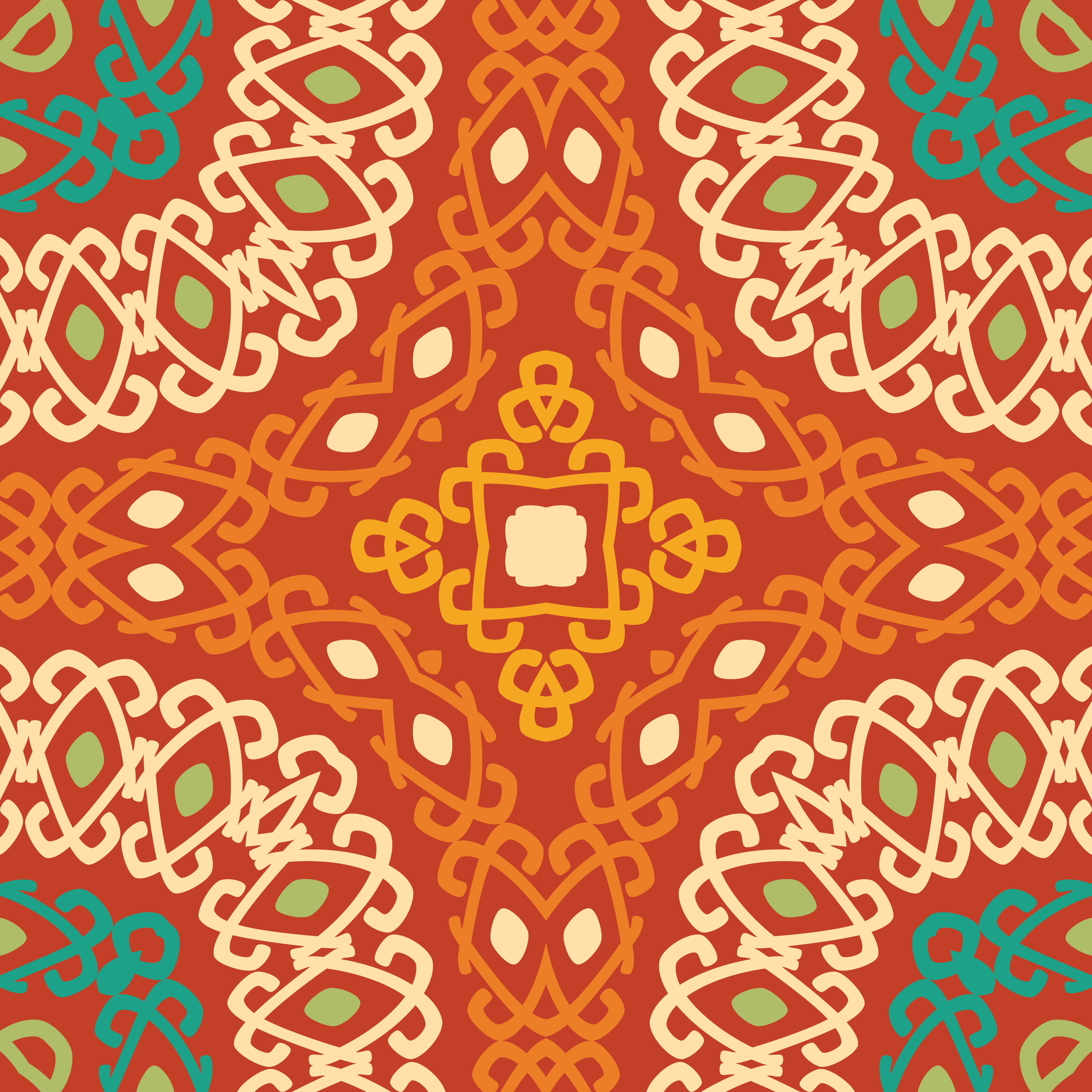 Colorful Tribal Ethnic Seamless Pattern. 435013