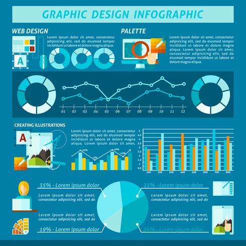 Infographie de conception graphique vecteur