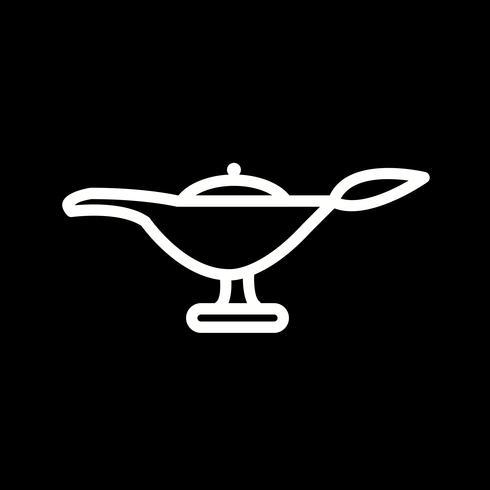 Icono de la lámpara del vector