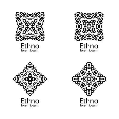 Ethnische Zeichen und Designelemente