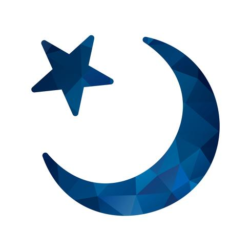 Vector wassende maan pictogram