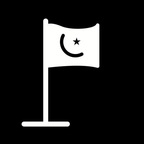 Vector icono de bandera islámica