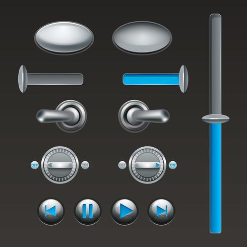 On Off Button Set vector