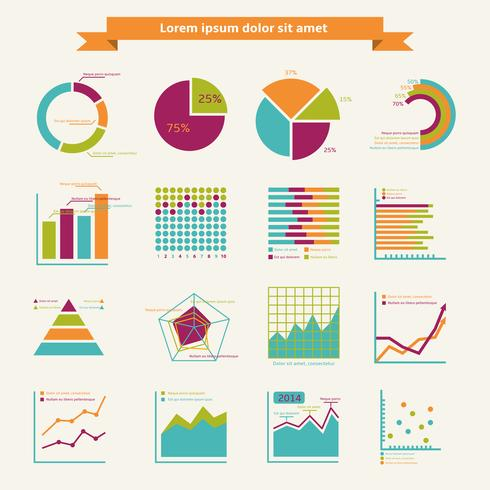 Éléments infographiques affaires vecteur