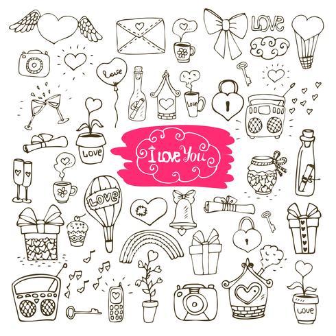 Liebe Gekritzel-Icons