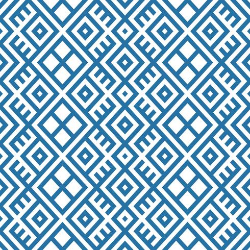 geometric seamless ethnic pattern background in blue and white colors vector