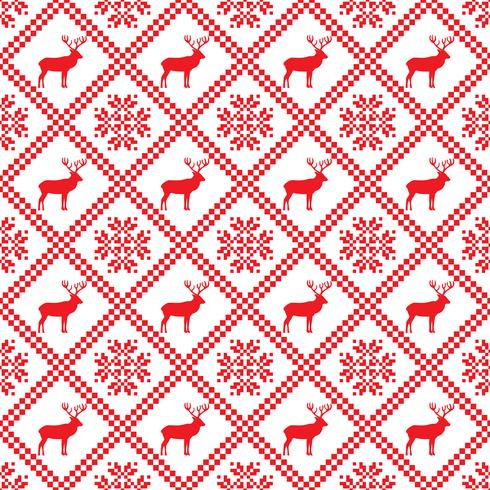 Traditional scandinavian pattern. Nordic ethnic seamless background vector