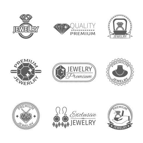Precious Jewels Label vector