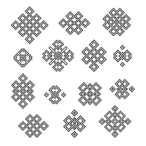 signos y simbolos etnicos vector
