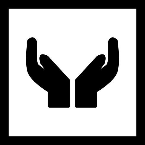 Vector icono de rogación